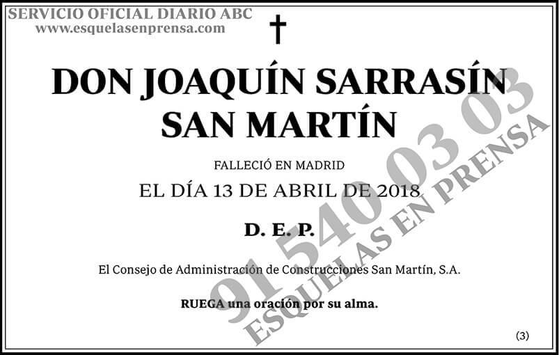 Joaquín Sarrasín San Martín